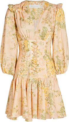 Zimmermann Amelie Floral Corset Mini Dress