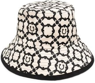 Salvatore Ferragamo Gancini pattern bucket hat