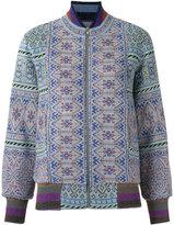 Cecilia Prado knitted bomber jacket - women - Acrylic/Polyamide/Spandex/Elastane/Viscose - M