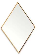 Nkuku Kiko Diamond Mirror - Antique Brass - Small