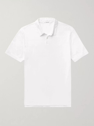 James Perse Supima Cotton-Jersey Polo Shirt - Men - White