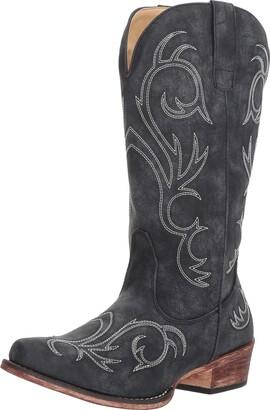 Roper Women's Riley Western Boot Black 6 D US