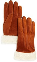 The Men's Store at Bloomingdale's Shearling Suede Gloves