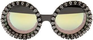 Rad + Refined Cross My Heart Mirrored Round Sunglasses