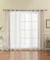 Best Home Fashion Gray Tulle Curtain Panels - Set of Two