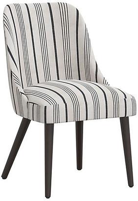 One Kings Lane Barron Side Chair - Graphite Stripe
