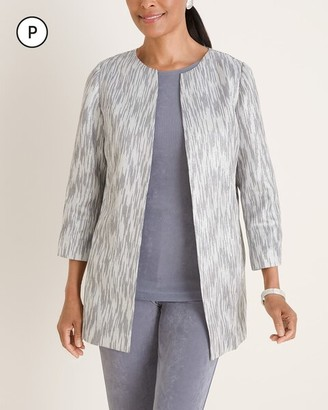 Travelers Collection Petite Textured Lurex Jacket