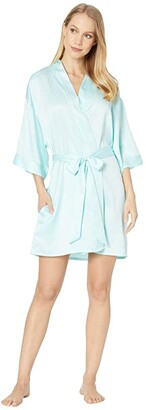Felina Muse Kimono (Bridal Blue) Women's Robe