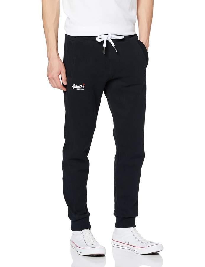 Superdry Men's Label Jogger Solid color Slim Sports Trousers