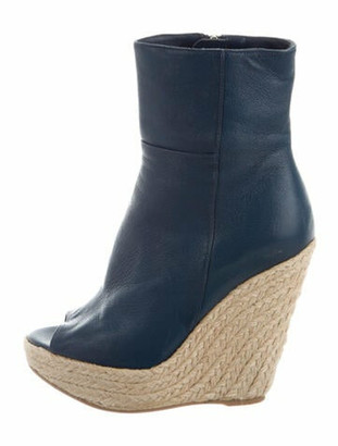 Sergio Rossi Leather Boots Blue