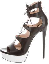 Ruthie Davis Object Lace-Up Sandals