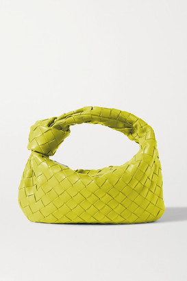 Bottega Veneta Jodie Mini Knotted Intrecciato Leather Tote - Green