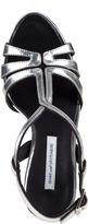 Diane von Furstenberg Devon Evening Sandal Silver Leather