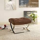 Modway Slope Stainless Steel Ottoman in Brown