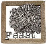 Mud Pie Harvest Feast Turkey Metal & Mango Wood Trivet