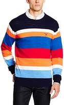 Gant Men's Yc. Natural Cotton Multistripe Crew Jumpers