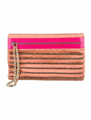 Lanvin Crystal-Embellished Clutch Pink