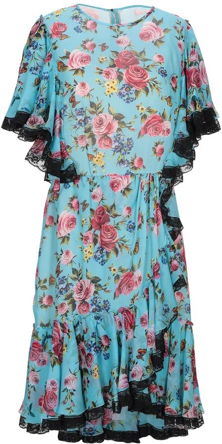 63725a30 Dolce & Gabbana Blue Crepe Dresses - ShopStyle
