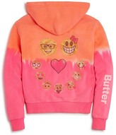 Butter Shoes Girls' Lava Wash Emoji Hoodie - Sizes S-XL