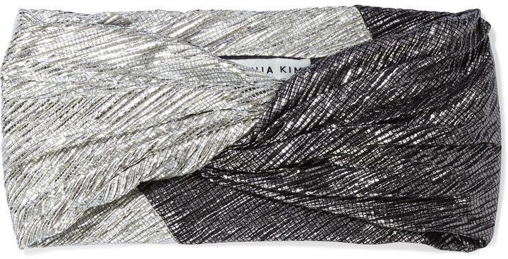 Eugenia Kim Malia Twisted Two-tone Lame Headband