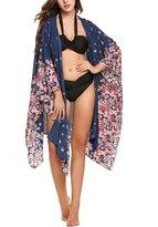 Zeagoo Womens Loose Kimono Maxi Cardigan Beach Dress Bikini Cover Up