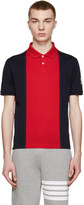 Moncler Gamme Bleu Navy & Red Colorblocked Polo