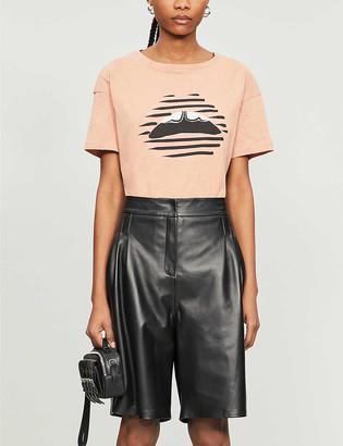 Markus Lupfer Alyssa graphic-print cotton-jersey T-shirt