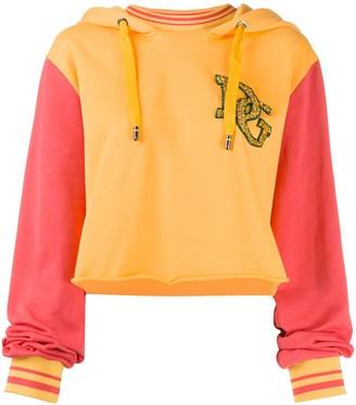 Dolce & Gabbana contrasting sleeves hoodie