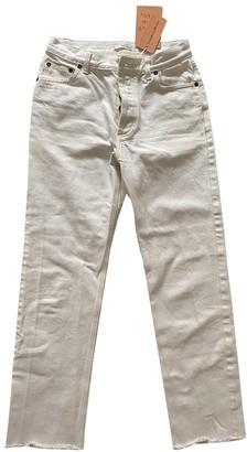 Celine White Cotton Jeans