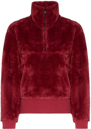 Varley Faux Fur Zip Sweatshirt