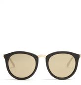 Le Specs No Smirking round sunglasses