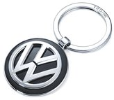 Troika VW VOLKSWAGEN KEYRING - KR16-05/VW - Keyring VW logo - additionally 1 keyring - cast metal- shiny - chrome plated - silver, black