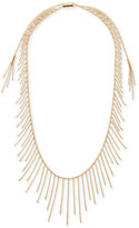 Michael Kors Gold-Tone Long Fringe Slider Necklace