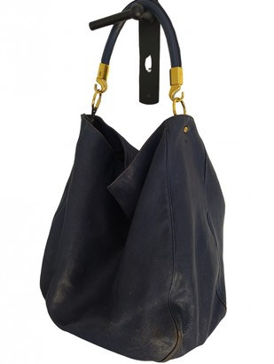 Saint Laurent Roady Navy Leather Handbags