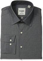 Ben Sherman Men's Diamong Dobby Shirt with Florentine Spread Collar