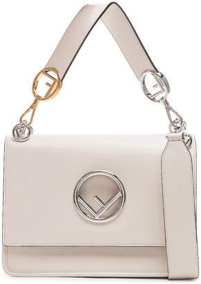 Fendi Logo Flap Bag in Grey   FWRD