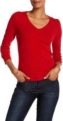 InCashmere 3/4 Length Sleeve Cashmere Pullover
