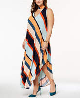 Love Squared Trendy Plus Size Choker-Neck Maxi Dress