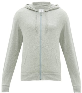 Calvin Klein Underwear Zip-through Cotton-blend Hooded Sweatshirt - Mens - Grey