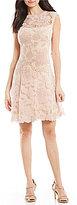 Tadashi Shoji Petite Floral Lace Dress