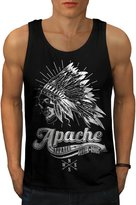 Apache Apparel Skull USA Native Men M Tank Top | Wellcoda