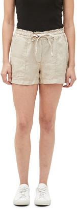 Michael Stars Paulette Ruffle-Waist Linen Shorts