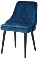 Bronx Lagunas Upholstered Solid Wood Side Chair Ivy Upholstery Color: Navy Blue