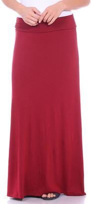 Brooke & Emma Women's Maxi Skirts Burgandy - Burgundy Convertible Maxi Skirt - Women & Plus