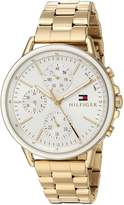 Tommy Hilfiger Women's 'Sport' Quartz and Stainless-Steel Casual Watch, Color:Gold-Toned (Model: 1781786)