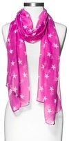 Xhilaration Women's Star Print Oblong Scarf Pink