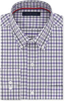 Tommy Hilfiger Men's Big & Tall Classic-Fit Non-Iron Purple Check Dress Shirt