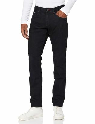 Tommy Hilfiger Men's Strght Denton Sstr Euless Black Loose Fit Jeans