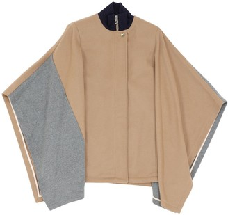 Chloé Two Tone Wool Blend Cape