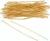 FindingKing 50 Gold Plated Head Pins Jewelry 21 Gauge 2 Inches New
